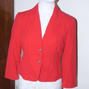 Elevenses Red Jacket Coat 4